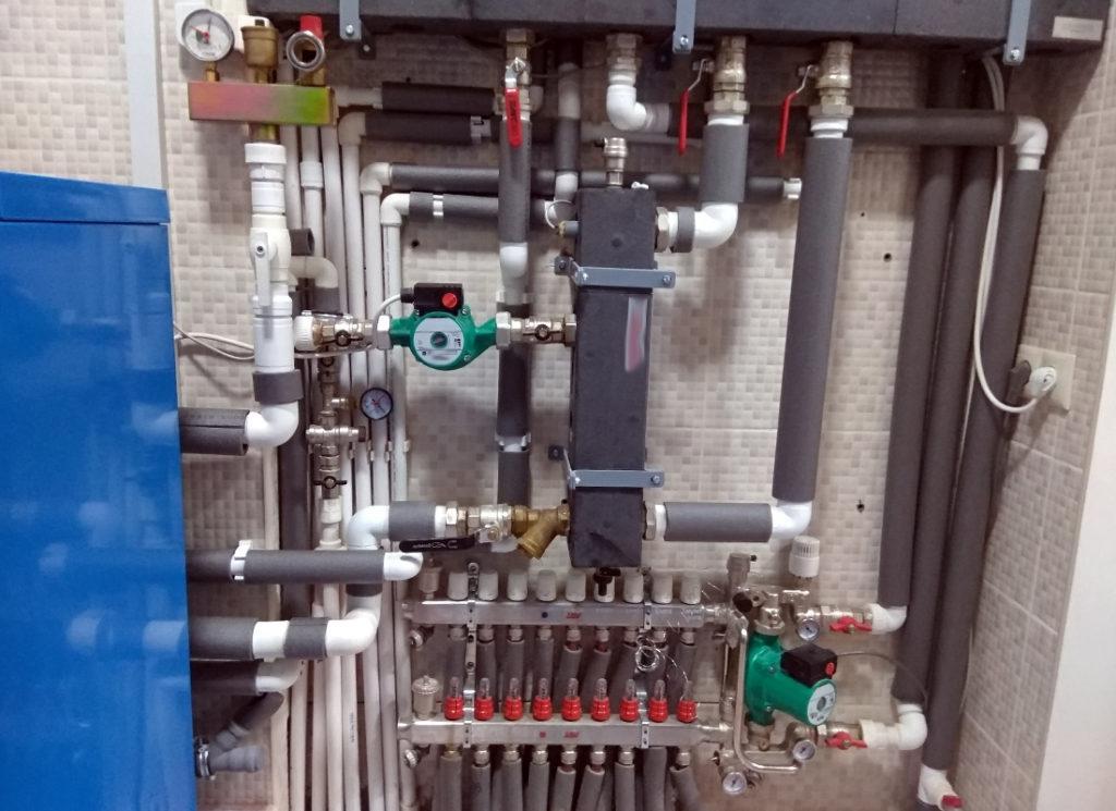 Монтаж напольного газового котла